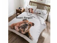 Barry Bulldog Duvet Set Double