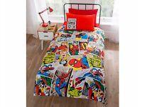 NEW kids childrens bedding duvet quilt marvel comic superhero Spiderman Hulk single Captain America
