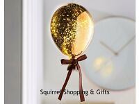 Copper Metallic Led Balloon, NEW & Boxed