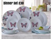 Butterfly Dinner Set