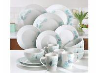 BRAND NEW 12 Piece Spring Blossom Dinner Set - Plus 4 FREE Mugs