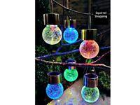 Set of 6 Crackle Ball Lights - Solar/LED Bran New & Boxed