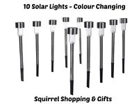 Set of 10 Colour Changing Garden Lights - New