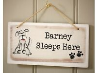 Customizable Dog Wooden Sign