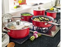 5 piece red pot set (Brand New)