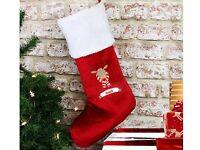 Personalised Retro Reindeer Stocking NEW!
