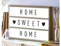 BRAND NEW LED LIGHT UP BOX - DISPLAY YOUR OWN MESSAGE!
