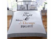 Mr Right & Mrs Always Right Duvet Set Double