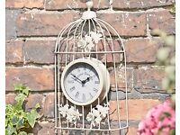 Vintage Birdcage Outdoor Clock