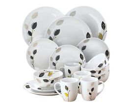 12-Piece Porcelain Dinner Set With 4 FREE Mugs