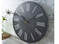 Real Slate Clock and Kitchen Chalk Board (Boxed)