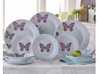 Vintage Butterflies Dinnerset