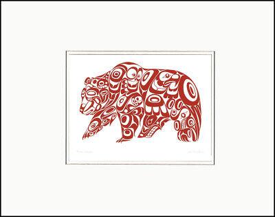 "BEAR DESIGN  11"" x 14""  Matted print by Jonathan Erickson  995"