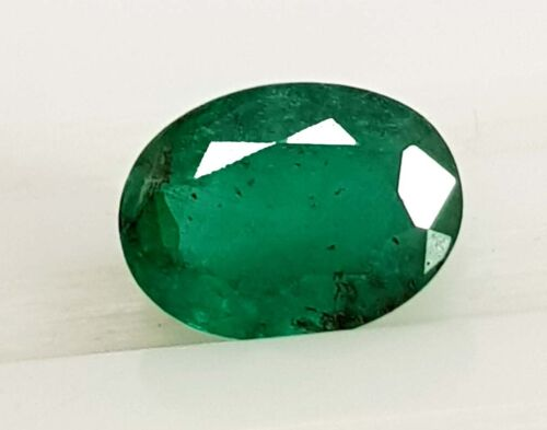 2.35 Ct Natural Top Green Zambia Emerald Untreated Oval Cut Loose Gemstone