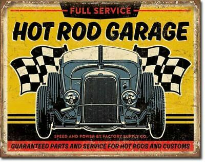 Vintage Hot Rod Garage Metal Sign Picture Retro Car Auto Repair Shop Decor Gift Vintage Hot Rod