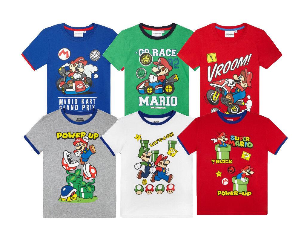 Super Mario T-Shirt  Kinder Shirt Junge Oberteil Kurzarm Sommer Mario Shirt