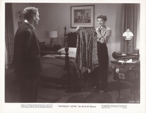 KATHARINE HEPBURN SPENCER TRACY Original Vintage 1945 WITHOUT LOVE MGM Photo