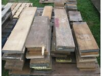 Quantity 78x Scaffold Board Timber Wood off Cuts Nr Brighton SUIT ALLOTMENT BEDS