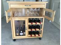 KITCHEN WINE TROLLEY