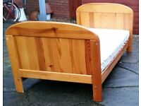 junior / child bed with mattress. 144 x 77cm. In very good condition.