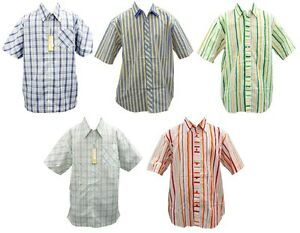 New Men Authentic 5 Different Colors Of Check Button Down