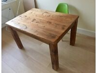 Pine rustic dining table