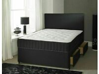 🟦✔️Furniture Defines You🟦✔️DOUBLE AND KING SIZE DIVAN BED BASE WITH OPTIONAL MATTRESS & HEADBOARD