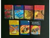 Harry Potter 1-7 complete hardback set