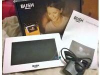 Bush White Digital Photo Frame Boxed Like New Condition