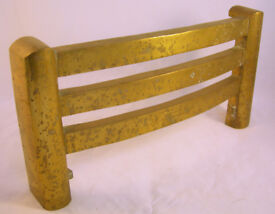 Vintage Brass Fire Hearth Grate Front (WH_3618)