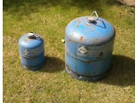 Camping Gaz cooker, lamp and gas bottles