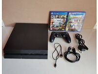 Sony Playstation 4 (PS4) 500GB with Gta 5 , Crash Bandicoot and 1 pad