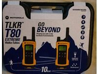 Brand new walkie talkies Motorola T80 extreme with accesories