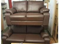 Dino 3 Seater + 2 Seater Faux Leather Sofa Set