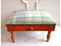 Small Pine Tartan Green Hand Nail Buffet Cushion Pillow Rest + Drawer