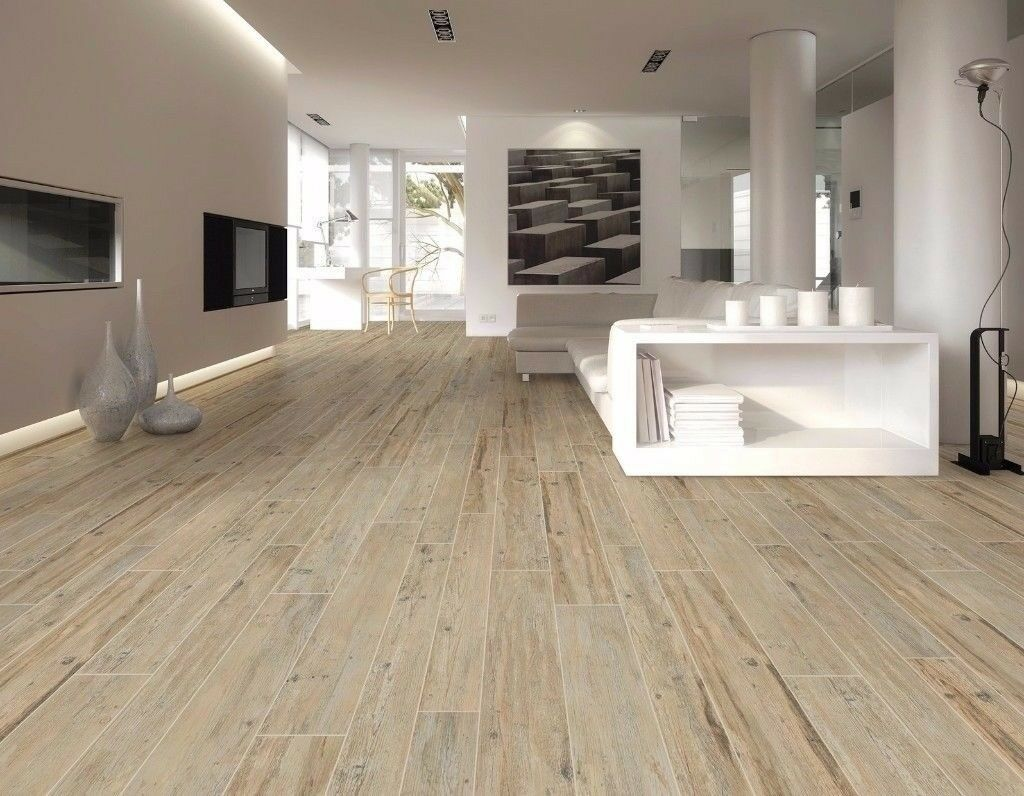 Porcelain Natural Wood Affect Floor Tiles.£4.99. FREE