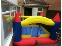 Large bouncy castle with electric blower