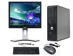 windows 7 complet dell ordinateur de bureau tour set pc 4 go ram 250 go hdd ebay. Black Bedroom Furniture Sets. Home Design Ideas