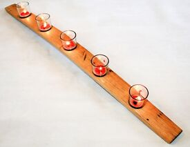 Oak Scotch Whisky Barrel Candle Tea-light holder