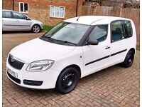 Skoda Roomster 1.2 HTP 12V, 5dr MPV, Manual, Candy White, Low Mileage - 18500, Serviced