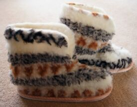 Ladies Fur Slipper Boots