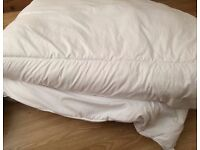 Double winter warm duvet and two comfortable pillows used just for 6 months.