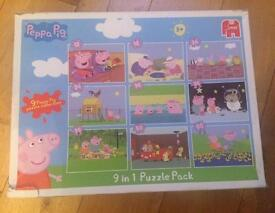 Peppa Pig Puzzle - 9 puzzles in 1
