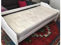 FREE - WHITE SINGLE BED & MATTRESS