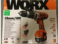 Worx 18V Hammer Drill with 2 Batteries