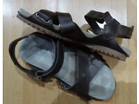 BUTTERO Made in Italy Copper Leather + Sienna Suede Sandals Size UK 7.5 Handmade