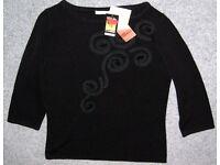 M&S Black Jumper Size 12