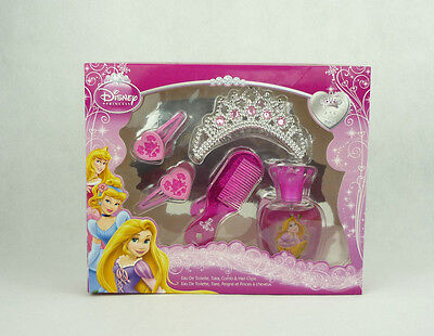 Disney Princess Geschenkset Rapunzel für Kinder EdT, Tiara, Kamm, Haarspangen ()