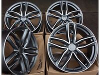 "18"" AUDI RS6 STYLE ALLOYS WHEELS VW A3 A4 A5 A6 RS4 RS5 RS7 RS3 S1 S3 SEAT S4 S5 S6 S LINE"