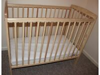 Baby Cot (frame and mattress) in excellent clean condition!